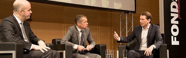 Marcel Fratzscher, Gerhard Führing und Sebastian Kurz